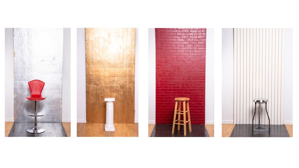 Custom Backgrounds with Studio Chairs